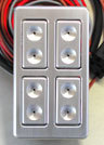 4 Door (Single) Illuminated Billet 5-wire PW Switch