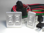 2 Door Illuminated Billet 5-wire Pow Win Switches